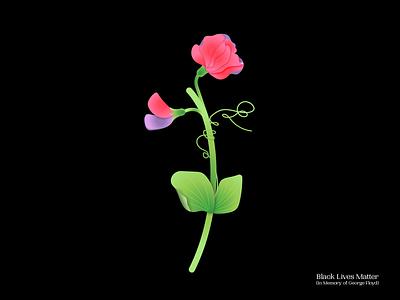 BlackLivesMatter illustration flower