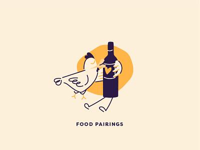 Food and wine pairings subscription illustrations wine food food and wine