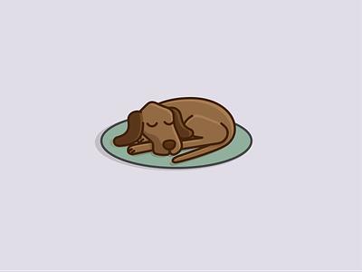 Dog sleeping iconography design graphic illustration dog icon