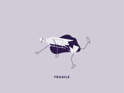 Illustrating Fragile wine bottle bottle alcohol branding cartoons subscription wine illustrations