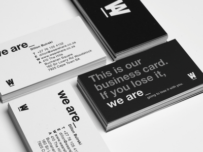 TEDesign We are branding typography production business card design branding stationary