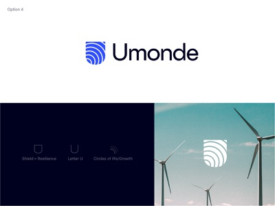 Umonde Logo option hydro wind solar science technology logo digital renewable energy branding brand logo asset management fund asset