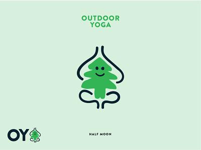 Outdoor Yoga Logo concept outdoors outdoor brand youth illustration logo yoga logo yoga