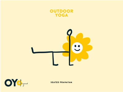 Outdoor Yoga Concept outdoors nature illustration logodesign branding outdoor logo yoga outdoor
