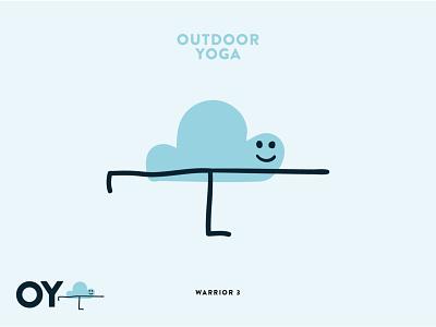 Outdoor Yoga Logo fun system brand design nature illustration logodesign nature yoga outdoor logo outdoor