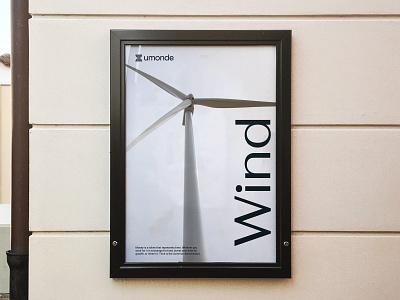 Umonde Poster technology energy renewable energy design print logo brand mockup poster