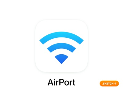 """Apple """"AirPort"""" App Icon - iOS 13 security time password station base express network wi-fi utility top 14 13 logo flat design ios icon apple app icon app"""
