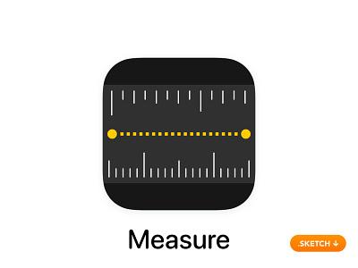 "Apple ""Measure"" App Icon line dimensions size tool secret inc cm utility unit top 14 13 logo flat design ios icon apple app icon app"