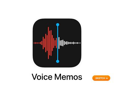 "Apple ""Voice Memos"" App Icon - iOS 13 tune tool portable modern recorder audio ipad iphone mem top 14 13 logo design ios icon apple app icon app"
