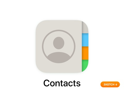 """Apple """"Contacts"""" App Icon - iOS 13 friendship label category top friends love register bussines share friend vector illustration 13 logo icon apple ios design app app icon"""