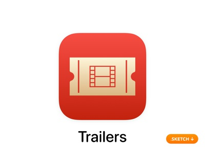 "Apple ""iTunes Movie Trailers"" App Icon - iOS 13 browse review imdb image scenes clips hd itunes trailer movie top flat 13 logo icon apple ios design app app icon"