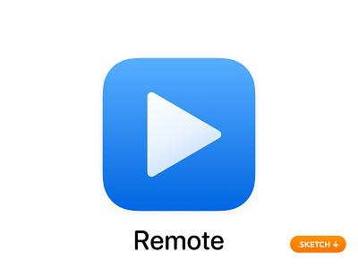 "Apple ""iTunes Remote"" App Icon - iOS 13 home people network source conect connect unit control remote itunes flat top 13 logo icon apple ios design app app icon"
