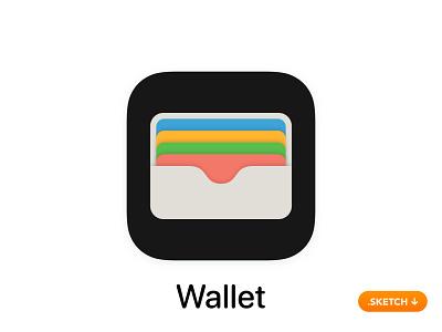 "Apple ""Wallet"" App Icon - iOS 13 pay money card flights passes flat top 13 logo icon apple ios design app app icon"