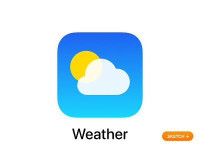 "Apple ""Weather"" App Icon - iOS 13 index quality air wind rain paris today pinch city world temperature radar top the best sky forecast logo apple app icon"
