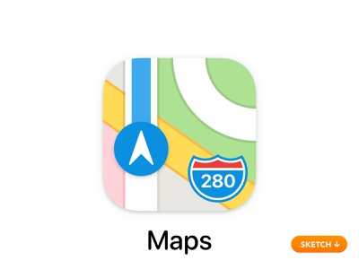 Apple Maps App Icon guide connect sketch vector illustration brand ui map glyph flat direction top logo apple icons icon design app icon