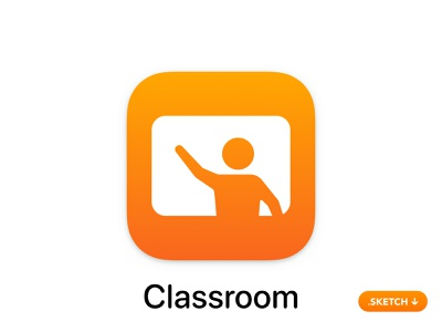 Apple Classroom App Icon guide connect sketch vector illustration brand ui room glyph monitor class top logo apple icons icon design app icon
