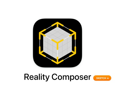 Apple Reality Composer App Icon canvas builder sketch vector illustration brand ui virtual objects glyph ar kit top logo apple icons icon design app icon app