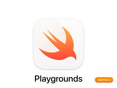Apple Swift Playgrounds App Icon ui ios top app branding coding code swift playground play playgrounds design icon app icon
