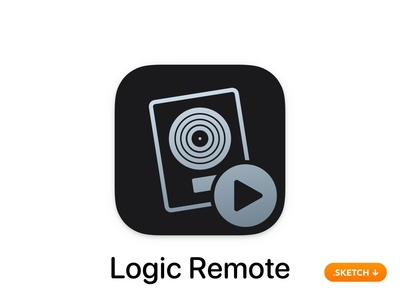 Apple Logic Remote App Icon freebie control mixer loops guitar play piano 14 flat 13 ios top logo apple app icon design app icon