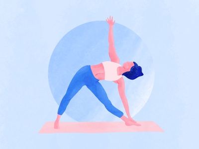 Triangle Yoga Pose illustration art art drawing meditation procreate illustration yoga