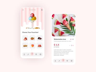 Ice Cream App Design food app app design mobile app pink icecream application design ui design ui