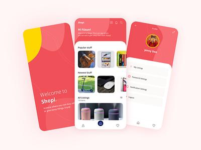 Shopi Concept App Design figma ios mobile app design interface application ui design app design secondhand app mobile ui