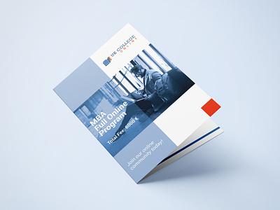 UK CollegeOnline Brochure Design logodesign logo blue education brochure design brochure design branding