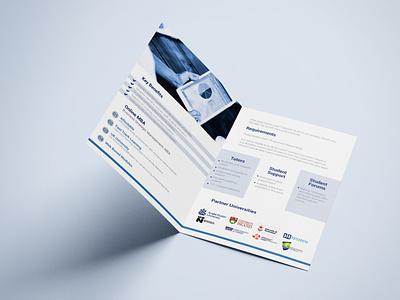 UK CollegeOnline Brochure Design blue education brochure design brochure logodesign logo design branding
