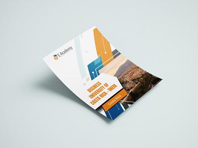 E-Academy Insert Design education brochure design brochure insert design branding
