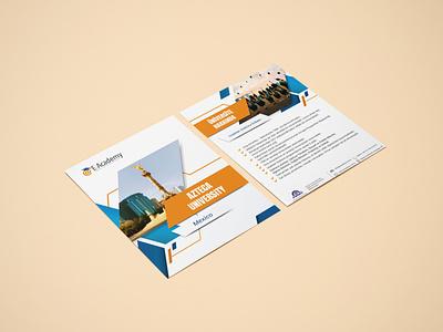 E-Academy Insert Design education insert brochure design brochure design branding