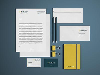 Tubleks Stationary Design accounting finance brand identity stationery notebook envelope letterhead business card design businesscard logodesign logo design branding