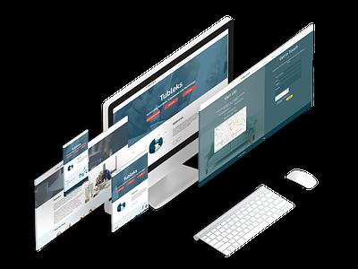 Tubleks Website mockup website concept ui design ux ui website design website design branding