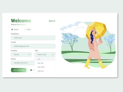 Sign up Page Design