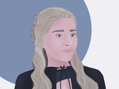 Khaleesi Illustration procreate portrait illustration