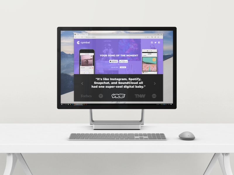 Cymbal Landing Page By Mario Hall On Dribbble