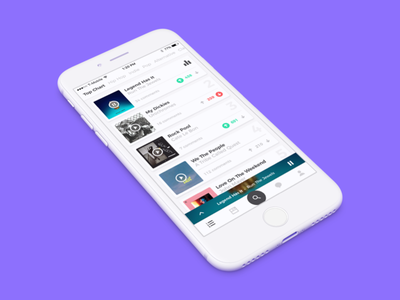 Cymbal 3.0 Dribbble player ios app music cymbal mobile spotify soundcloud pandora tab bar music app apple music