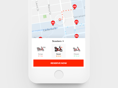 Scoot Redesign options redesign scoot moped transportation mobility travel mobile app ios