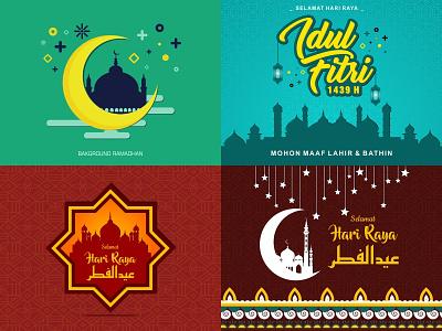 Eid Al-Fitr eid al-fitr eid mubarak ramadhan greeting ramadhan greeting cards greeting fasting design vector illustration