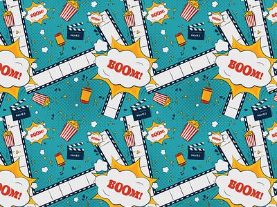 Cinema Pattern film movies boom webdesign ux pattern design pattern cinema illustration design ui