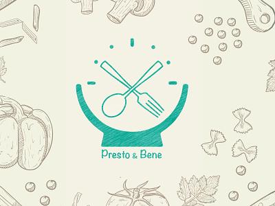Presto&Bene - Food Blog Logo Design web branding icon illustration logodesign fastfood foodblog food ux ui logo design logo
