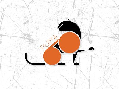 Puma 60 - Logo Design 60 puma icon art logo branding ux illustration dailyui design ui