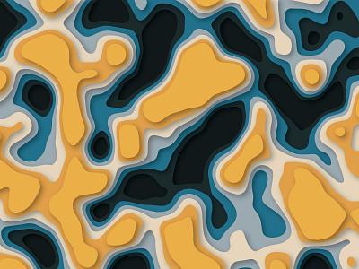 Papercut style texture texture vector dailyui paper art papercut paper illustration design
