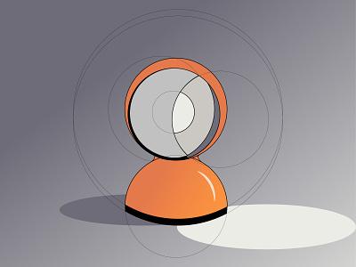 ECLISSE lamp by Vico Magistretti magazine design architecture lamp magistretti icon challenge ui webdesign illustration design