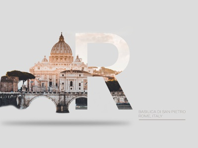 Creative Lettering - Rome typography font lettering creative city illustration rome city webdesign ux dailyui ui illustration design