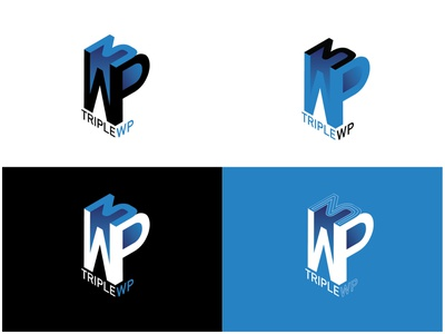 Triple WP Logo Design - 30 Days Challenge Logocore digital wp dailyui web icon logo challenge logocore daily 100 challenge ux webdesign design ui