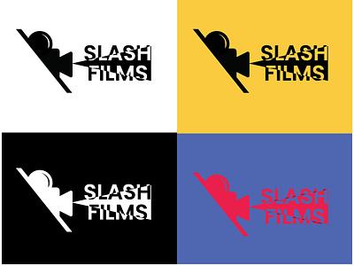 Slash Films Logo Design - 30 Days Challenge Logocore web slashfilms film logocore ui dailyui logo daily 100 challenge ux illustration webdesign design