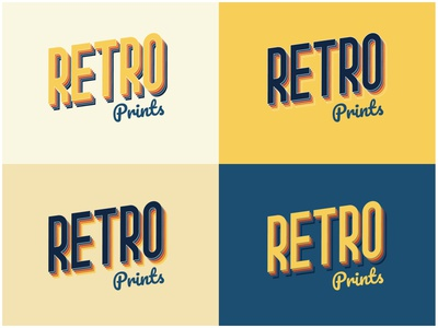 Retro Prints Logo Design - 30 Days Challenge Logocore retro logo logocore retroprint retro web weeklywarmup branding logo challenge dailyui illustration webdesign ui design