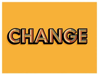 Change- Typography web minimal chiseled change typography icon vector ux illustration webdesign design ui