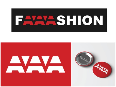 Faaashion Logo Design - 30 Days Challenge Logocore fashion brand web website red faaashion aaa fashion logocore weeklywarmup branding logo challenge ux illustration webdesign design ui