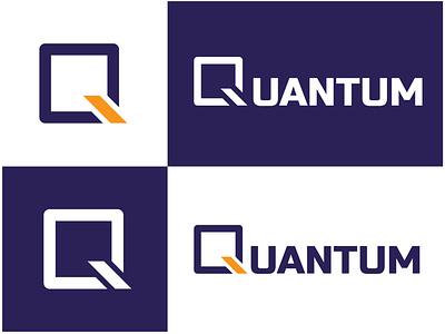 Quantum Logo Design - 30 Days Challenge Logocore quantum logocore weeklywarmup icon challenge logo branding ux dailyui illustration webdesign design ui